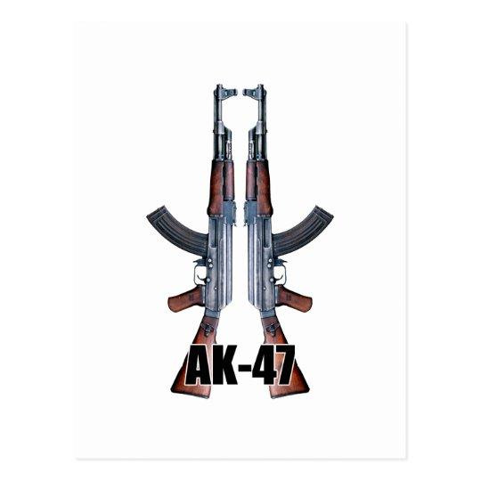 Espingardas de assalto duplas de AK-47 Cartão Postal
