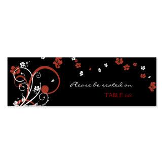 Espirais & cartão do lugar da mesa das flores
