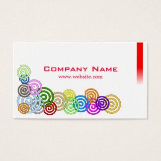 Espirais coloridas cartão de visitas