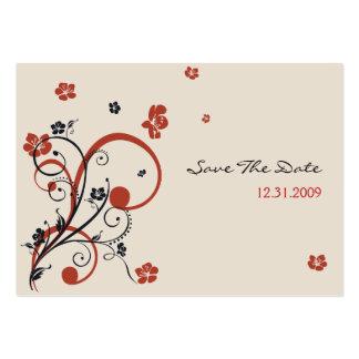 Espirais & flores que Wedding economias TheDate Mi Cartoes De Visita