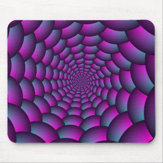 Espiral da bola em azul e roxo cor-de-rosa