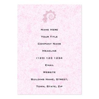 Espiral de elefantes cor-de-rosa. Fundo Cartão De Visita Grande