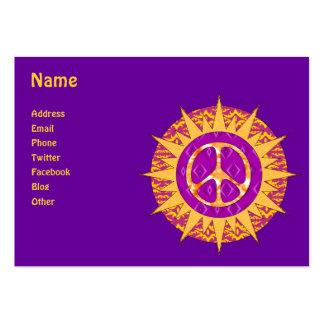 Espiral de Sun da paz Cartoes De Visita