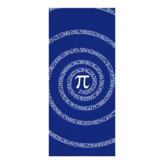 Espiral do design para o Pi em azuis marinhos 10.16 X 22.86cm Panfleto