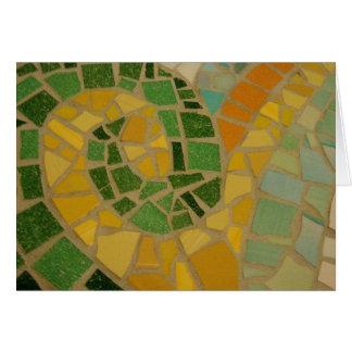 Espiral do mosaico cartão comemorativo