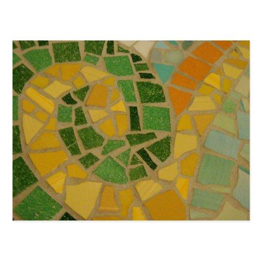 Espiral do mosaico cartão postal