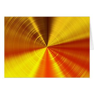 Espiral metálica do ouro cartão