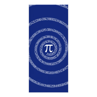 Espiral para o Pi em azuis marinhos 10.16 X 22.86cm Panfleto