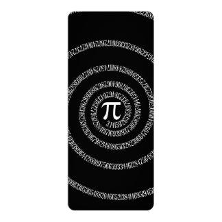 Espiral para o Pi no preto contínuo Convite 10.16 X 23.49cm