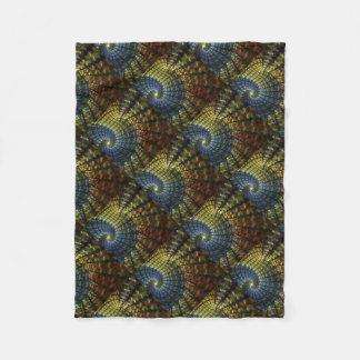 Espiral psicadélico cobertor de lã