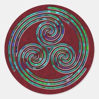 Espiral tripla, tripla & azevinho - etiqueta adesivo
