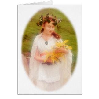 Espírito da acácia cartão comemorativo