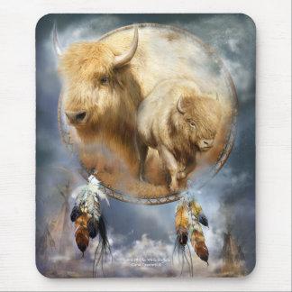 Espírito da arte branca Mousepad do búfalo