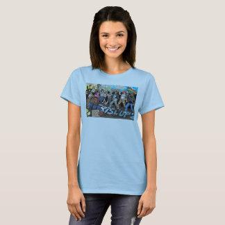 Espírito 'da camiseta de 17 mulheres (azul)