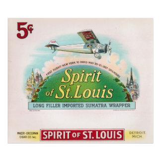 Espírito da etiqueta Detroit do charuto do vintage Impressão De Foto