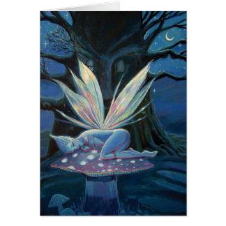 Espírito de madeira - cartão feericamente da arte