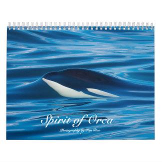 Espírito do calendário das baleias de assassino da