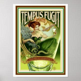 Espírito do Tempus Fugit poster 12 x 16