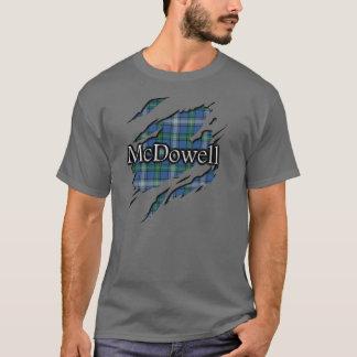 Espírito escocês do Tartan de McDowell MacDowall Camiseta