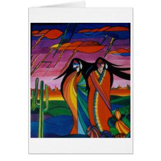 Espírito FO o deserto Cartão Comemorativo