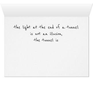 Espiritual inspirado do cartão