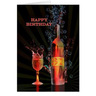 Espirrando cartão de aniversário do vinho o 3ø
