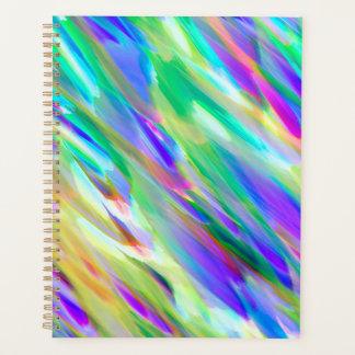 Espirro digital colorido da arte do planejador