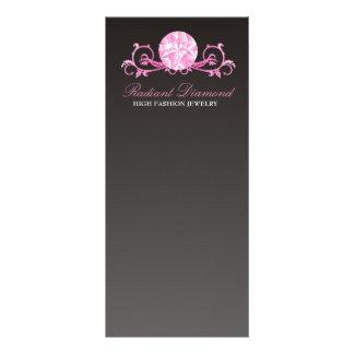 Esplendor cor-de-rosa do diamante 311 10.16 x 22.86cm panfleto