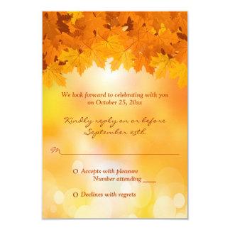 Esplendor do outono das folhas de bordo que convite 8.89 x 12.7cm