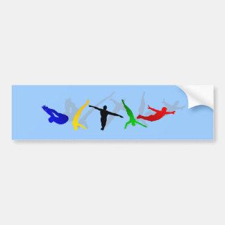 Esporte alto da plataforma do trampolim do mergulh adesivo