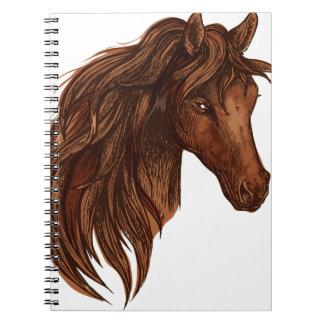 Esporte do cavalo dos cavalos caderno
