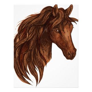 Esporte do cavalo dos cavalos papel timbrado