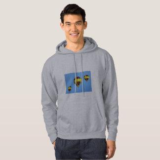 Esporte e hoodie cinzento macio com imagem dos moletom