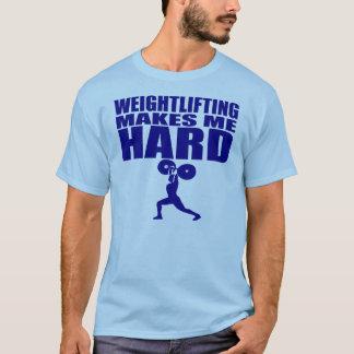 Esporte engraçado - o levantamento de peso faz-me camiseta