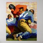 Esportes do vintage, jogador de futebol posters