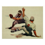 Esportes do vintage, jogadores de beisebol pôsteres