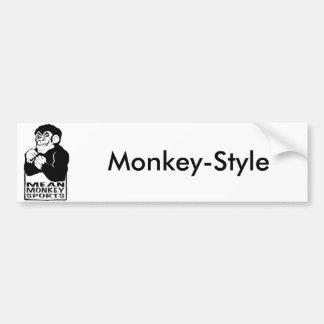 Esportes médios do macaco adesivo para carro