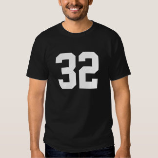 Esportes número 32 camiseta