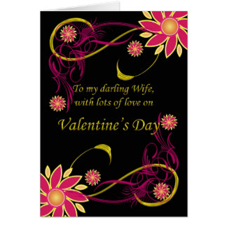 Esposa com amor no dia dos namorados, dia dos cartão comemorativo