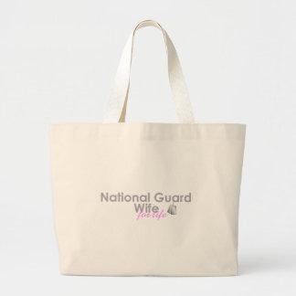 Esposa da guarda nacional para a vida bolsas de lona