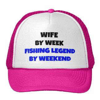 Esposa da legenda da pesca boné