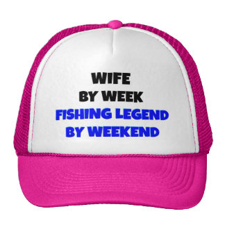 Esposa da legenda da pesca bonés