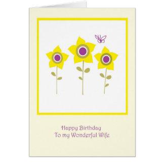 Esposa do aniversário cartão comemorativo