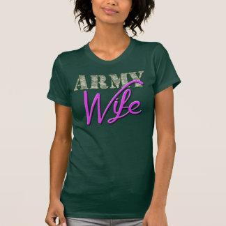 Esposa do exército, camisa bonito