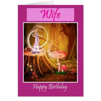 Esposa do feliz aniversario com aniversário cartão comemorativo