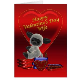Esposa do feliz dia dos namorados cartão comemorativo