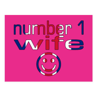 Esposa do número 1 (o aniversário da esposa) cartão postal