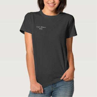 Esposa dos mineiros de carvão camiseta polo bordada feminina