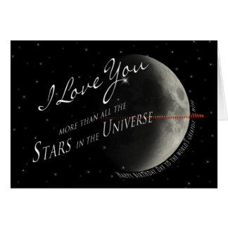 ESPOSA STARS/UNIVERSE do aniversário Cartão Comemorativo