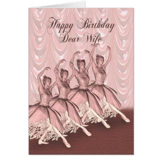 Esposa, um cartão de aniversário da bailarina